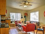 The additional living area off the kitchen is a casual gathering place.