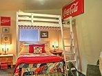 Full-over-full bunks provide flexible sleeping options.