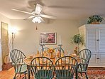 Enjoy fun family meals at the dining room table.