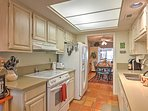 Prepare mouthwatering home-cooked meals in the fully equipped kitchen.