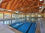 Take a dip in the indoor pool and swim some laps.