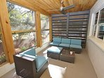 Screened Porch Offers Comfortable Seating