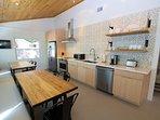 Open Kitchen with Quartz Countertops