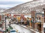 Historic Main Street in Downtown Park City, Utah has many shops, restaurants, galleries and history to explore.