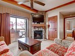 Westgate 4 Bedroom Aspen Grove features a balcony with private Jacuzzi hot tub, fireplace, flat screen HDTV, queen sofa...