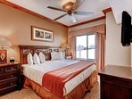 Master bedroom suite with king size bed, quality linens/bedding and large en suite bathroom with large Jacuzzi jetted...