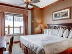 Guest bedroom (3) with king size bed, mountain facing views, high quality linens / bedding, large flatscreen HDTV...