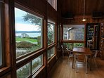 View of the ocean and lighthouse from kitchen