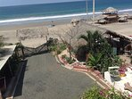 View from upstairs of the beach