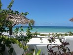 Fenced off, private beach in front, villa sleeps 12