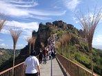 Civita di Bagnoregio  caratteristico borgo medioevale accessibile dal ponte pedonale a solo 1km