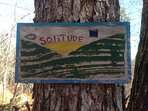 Miles of on-property trails marked with signs left from the days of the Girl Scouts.