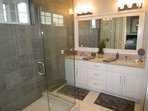 Master Bathroom ~ Dual Sink Vanities ~ Large Walk In Shower