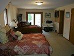 BR 2 with 2 queen beds, games and door to patio