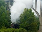 Steam train in the nearby National Park