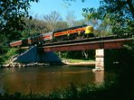 Cuyahoga Valley RR - running daily during season and also for winter holidays.