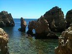 The stunning rock formations at Ponta da Piedade