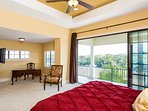 3rd floor Master bedroom with study, private balcony and golf views.