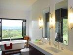 Main ensuite, bath with views