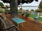 Great views and heated area on large wrap around deck.