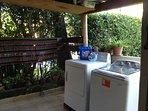 Laundry room patio.