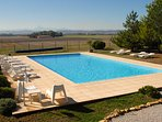14x7m pool with views to the Pyrenees