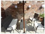 Courtyard seating area with bbq