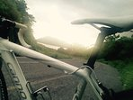Road bike routes near by with spectacular views.