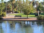 Beautiful Encanto Park, Phoenix's largest public park is just steps away