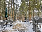 Cook out on the gas grill in warmer weather, or enjoy the snowfall from the large back deck.