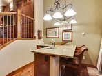 Take a seat at the main level wet bar