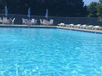 Pool within walking distance in the complex