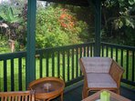 You'll spend loads of time on the fully screened lanai, enjoying the garden views
