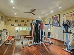 Fitness center - sport equipment