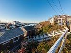 Top Side Cottage, Overlooks all of Menemsha Harbor, Menemsha Creek and The Vineyard Sound