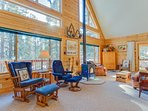 Roomy, dog-friendly mountain home in the woods near Electra Lake!