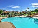 Enjoy relaxing days under warm California rays at the quiet community pool surrounded by soaring desert mountains.