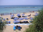 Paphos blue flag beach is only a only a 10-minute walk away