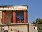 Der Palast von Knossos in Heraklion. Am besten besucht man Knossos gleich zu Beginn des Tages.