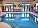 Enjoy a swim no matter the weather in the indoor pool