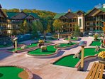 Mini-golf on the resort grounds is a fun way to spend quality family-time