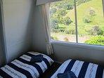 Second bedroom with delightful rural views