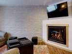 Relax & Warm Up by the Fireplace & Flat Screen TV
