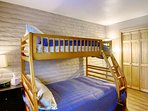 Sleep 3 in This Full Bed on Bottom/Twin Bed on Top Bunk Bed