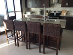 Eat In Kitchen With 5 Barstools