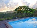 piscine soleil levant