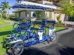 Il nostro uso condiviso Surrey Family Bike è disponibile.