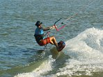 Kite surfing school 5 mins from the condos