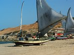 Steeped in history are the local fishermen who go out every day in their handmade boats