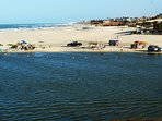 Small lagoon on Uruaú Beach perfect spot to relax or learn how to kite surf in the local school